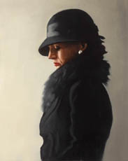 Jack Vettriano: Portrait in Black & Pearl