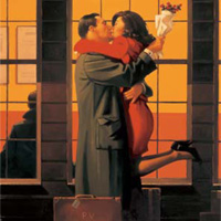 Jack Vettriano: Back Where You Belong (Square)